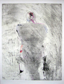 Entity Series #1 Monotype 1986 41x30 Works on Paper (not prints) - Fritz Scholder