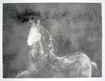 Dream Horse Series, #1 Monotype 1986 30x40 Works on Paper (not prints) - Fritz Scholder
