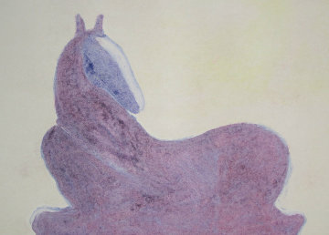 Dream Horse Series, #2  Monotype 1986 30x41 Works on Paper (not prints) - Fritz Scholder