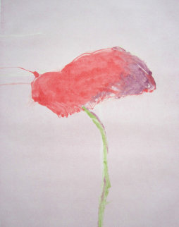 Flower Series, #1 1982 Monotype 40x30 Works on Paper (not prints) - Fritz Scholder