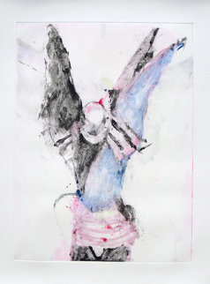 Winged Shaman Monotype 1993 30x22 Works on Paper (not prints) - Fritz Scholder