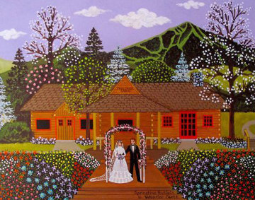 Springtime Nuptials 1980 22x19 Limited Edition Print - Jane Wooster Scott