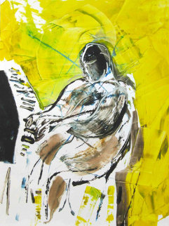 Fats Domino Monotype 2010 30x22 Works on Paper (not prints) - Arthur Secunda