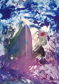 Sinking of the Titanic Monotype 2008 30x22 Works on Paper (not prints) - Arthur Secunda