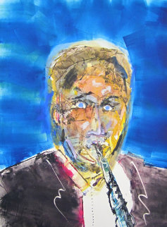 Artie Shaw Monotype 2010 30x22 Works on Paper (not prints) - Arthur Secunda