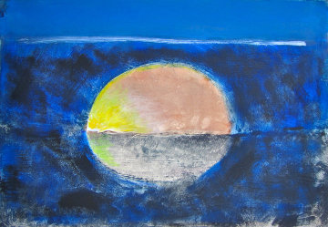 Sun and the Sea Monotype 2008 22x30 Works on Paper (not prints) - Arthur Secunda