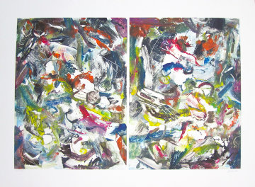 Eco System Dyptych Monotype 2008 Works on Paper (not prints) - Arthur Secunda