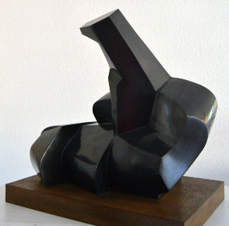 Entertainment With Picasso the Guitar And the Cubism 22 Bronze Sculpture 1984 Sculpture - Pablo Serrano