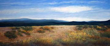 #534 Out West Watercolor 2006 23x41 Watercolor - Eileen Serwer