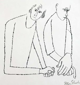 To Parents One Had to Hurt  1968 Limited Edition Print - Ben Shahn