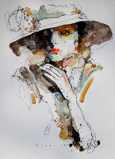 Lady 1 2019 25x18 Works on Paper (not prints) - Victor Sheleg