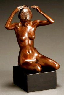 Vanity Bronze Sculpture 1979 18 in Sculpture - Adolf Sehring