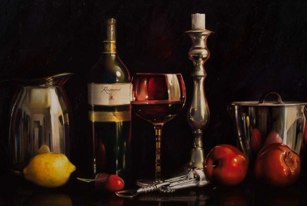 Still Life With Wine 24x48