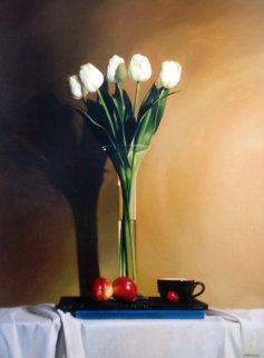 Untitled Still Life 46x37 Original Painting - Alexander Sheversky