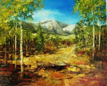 Fall - Grand Teton 2010 30x24 Original Painting - Stephen Shortridge