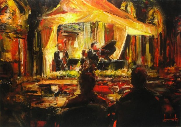 Private Concert on the Square 24x36