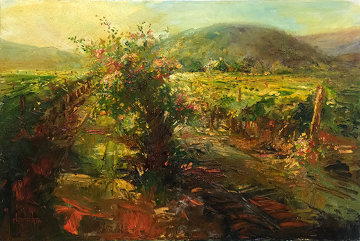 Streaming Light, Yountville Napa 24x36 Original Painting - Stephen Shortridge