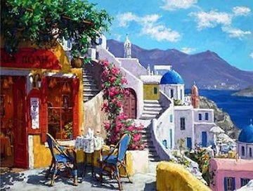 Afternoon Aegean Sea 2010 Embellished Limited Edition Print - Viktor Shvaiko