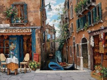 Venice in Bloom Embellished 2008 Limited Edition Print - Viktor Shvaiko