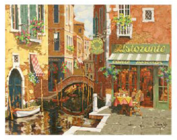 Rendezvous In Venice Embellished 2002 Limited Edition Print - Viktor Shvaiko
