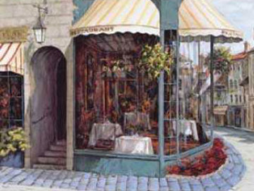 Cafe De Paris 1997 Embellished Limited Edition Print - Viktor Shvaiko