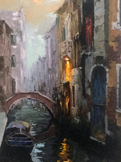 Morning Mist in Venice AP 2015 Embellished Limited Edition Print - Viktor Shvaiko