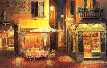 Evening in Verona PP Limited Edition Print - Viktor Shvaiko