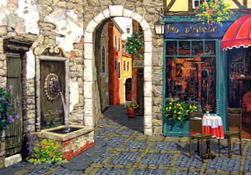 Fresco and Fountain PP Limited Edition Print - Viktor Shvaiko