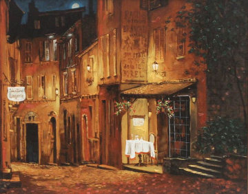 Moonrise At the Rodez PP Limited Edition Print - Viktor Shvaiko