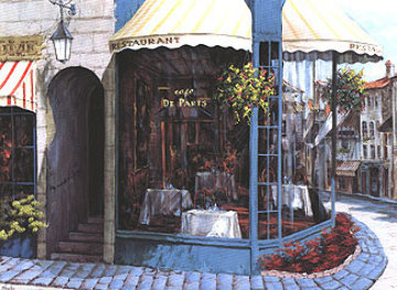 Cafe de Paris 1995 Limited Edition Print - Viktor Shvaiko