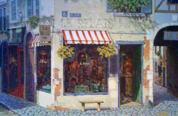 Le Relais AP 1999 Embellished Limited Edition Print - Viktor Shvaiko
