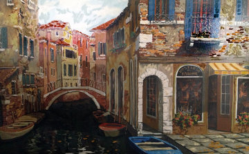 Autumn in Venice 1998 Embellished Limited Edition Print - Viktor Shvaiko