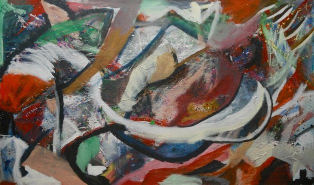 Untitled Abstract Painting 2011 47x78
