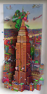 Empire State Building 3-D 1996 13x7 New York Original Painting - Susannah MacDonald