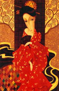Geisha in Red 2007 Limited Edition Print - Sergey Smirnov