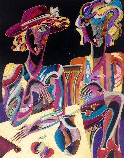 Two Ladies 2003 38x47 Works on Paper (not prints) - Igor Smirnov