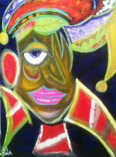 Urban Mardi Gras 2013 24x18 Original Painting - L.J. Smith