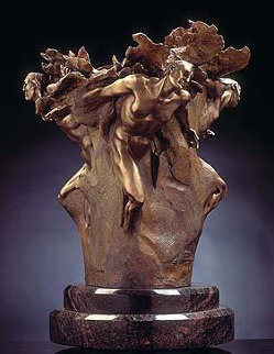 Tectonics Study Bronze Sculpture 28 in Sculpture - M. L. Snowden