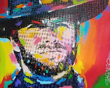 Clint Eastwood 1994 41x51 Original Painting by John Stango