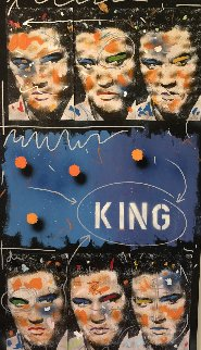 King 1995 54x30 Elvis Original Painting - John Stango