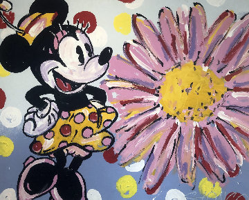 Minnie And Daisy 2008 38x47 Original Painting - John Stango