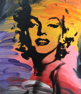 Untitled (Marilyn Monroe) 48x40 Original Painting - John Stango