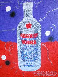 Absolute Vodka 30x23 Original Painting by John Stango