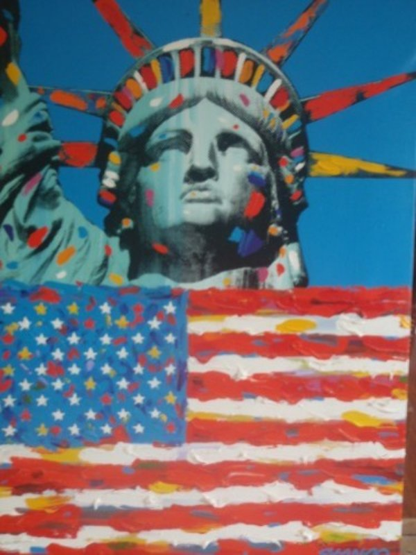 Lady America And Star Spangled Banner 42x31