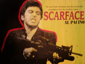 Scarface Unique 31x41 Original Painting - John Stango
