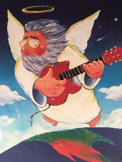 Jerry Angel Unplugged - Jerry Garcia 2002 Limited Edition Print - Stanley Mouse