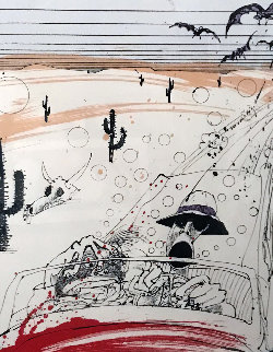 Bats Over Barstow B.A.T. 1993  Limited Edition Print - Ralph Steadman