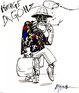 Dr Gonzo AP 1995 Limited Edition Print - Ralph Steadman