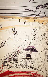 Bats Over Barstow 1994 Limited Edition Print - Ralph Steadman