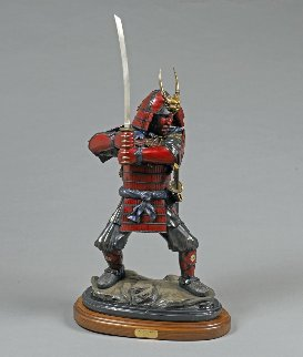 Last Samurai Bronze Sculpture  2016 37 in Sculpture - Barry Stein